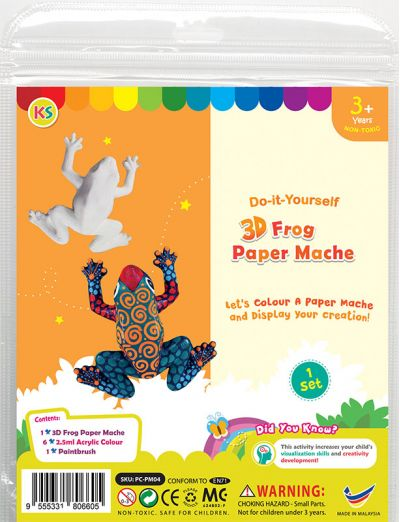3D Animal Paper Mache Painting Kit - Frog
