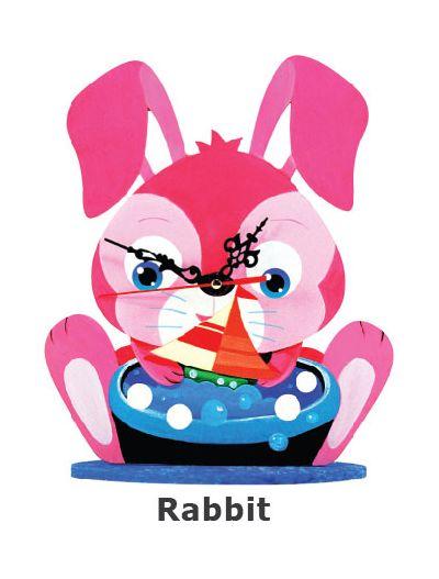 Animal Clock Stand - Rabbit