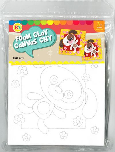 Chinese New Year Foam Clay Canvas Kit - Packaging Front
