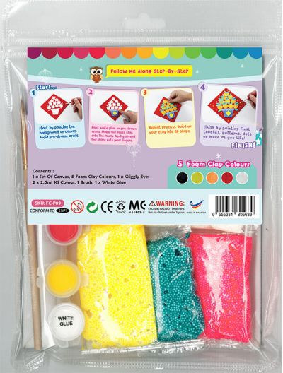 Chinese New Year Foam Clay Canvas Kit - Packaging Back