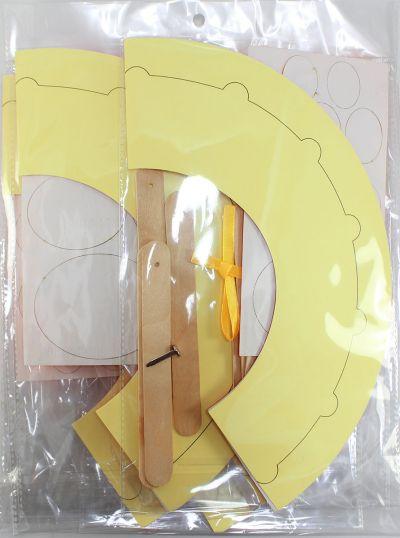 Felt Chinese New Year Fan Pack of 5 - Mandarin Orange - Packaging Back