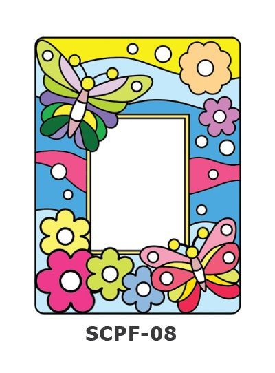 Suncatcher Photo Frame - Butterfly and Flowers