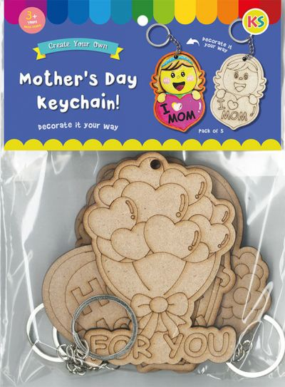 Mother's Day Keychain Pack of 5 - Packaging Front