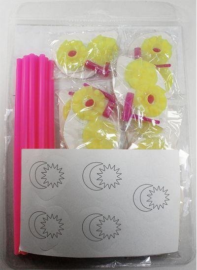 DIY Merdeka Flower Pinwheel Pack of 10 - Packaging Back