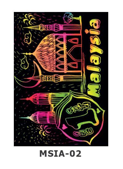 Scratch Art Kit - Malaysian Theme - National Mosque