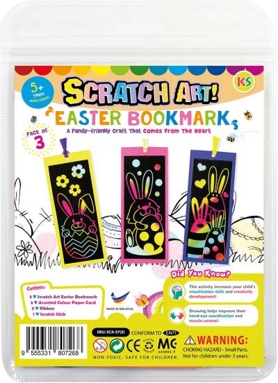 Scratch Art Easter Bookmark Kit
