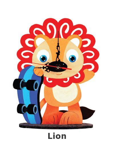 Animal Clock Stand - Lion