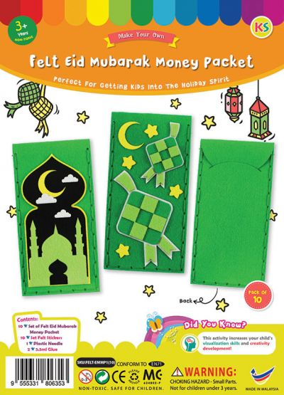 Felt Raya Money Packet Pack of 10