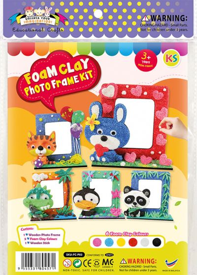 Foam Clay Photo Frame Kit - Packaging Front