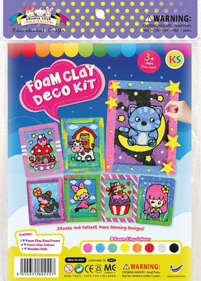 Foam Clay Deco Kit - Packaging Front