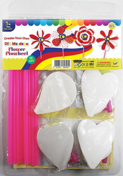 DIY Merdeka Flower Pinwheel Pack of 10 - Packaging Front