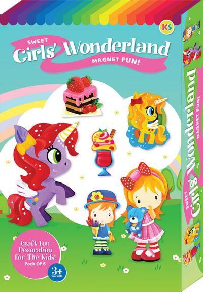 Sweet Girls' Wonderland Magnet Fun Box Kit - 6-in-1