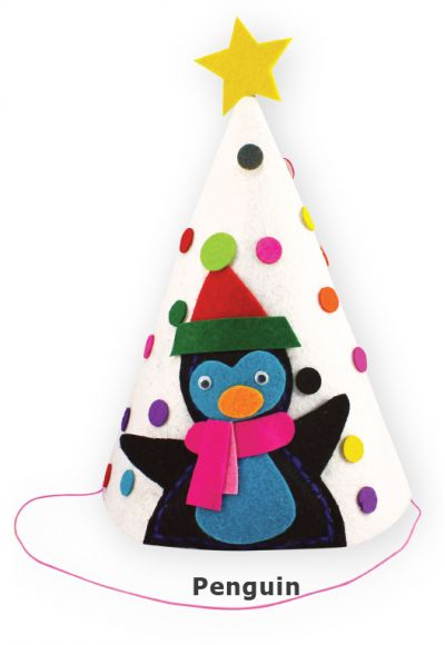 Felt Christmas 3D Hat - Penguin