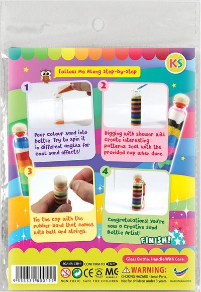 Brilliant Sand Bottle Kit - Packaging Back
