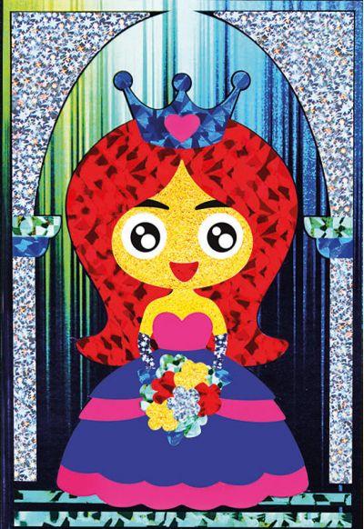 Foil Art - Princess With Bouquet