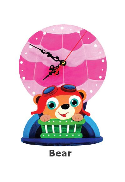 Animal Clock Stand - Teddy Bear