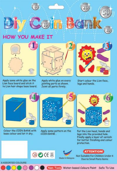 DIY Animal Coin Bank Kit