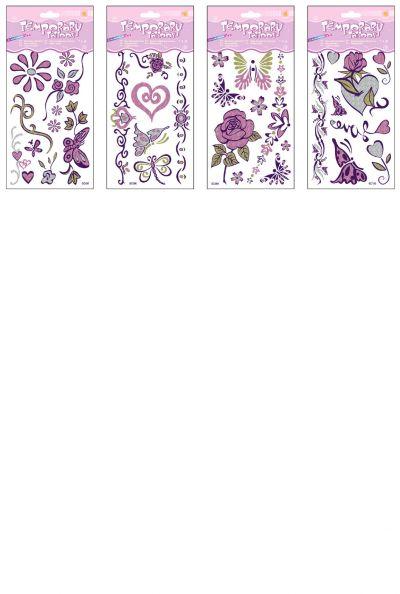 Temporary Glitter Tattoo - Rainbow Mix - Assorted Designs