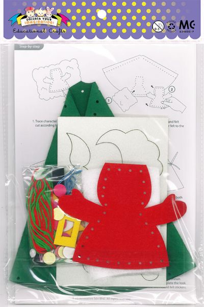 Felt Christmas 3D Hat Kit - Packaging Back