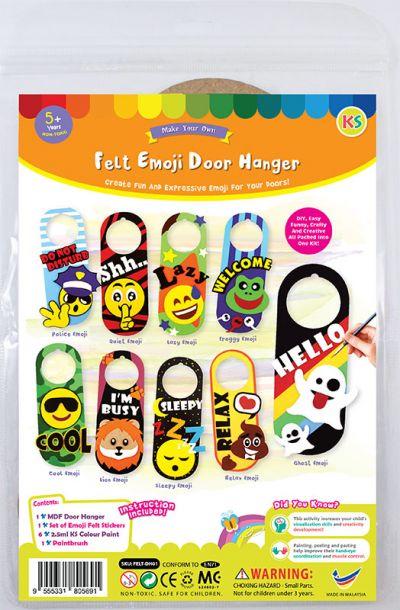 Felt Emoji Door Hanger Kit - Packaging Front