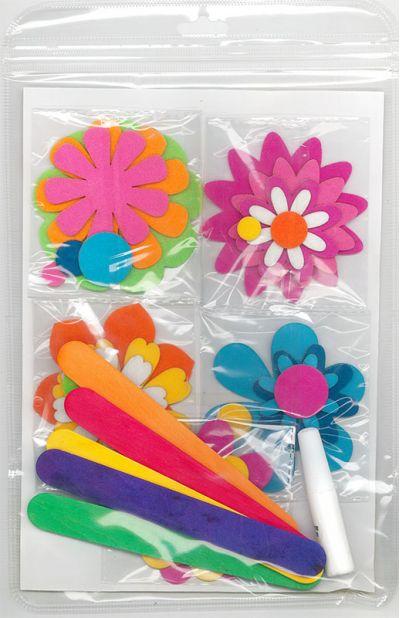 Felt Flower Bookmark Pack of 5 - Packaging Back