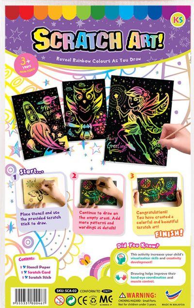 Scratch Art Kit - Packaging Back