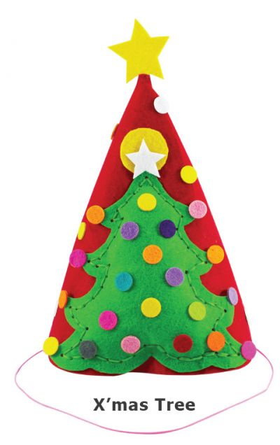 Felt Christmas 3D Hat - Christmas Tree