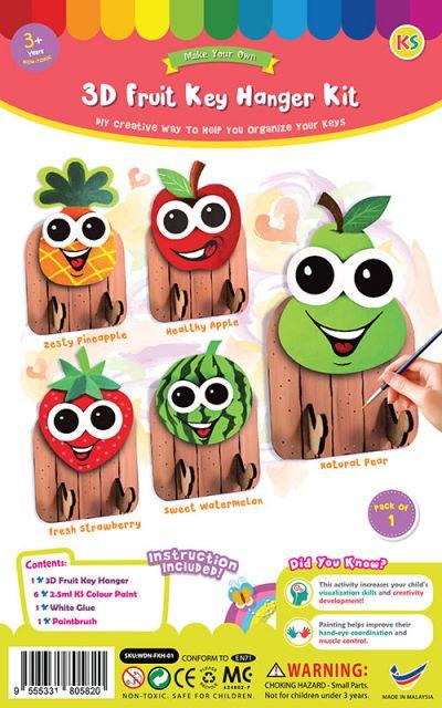 3D Fruit Key Hanger Kit