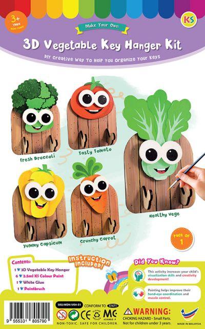 3D Vegetable Key Hanger Kit