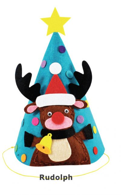 Felt Christmas 3D Hat - Rudolph the Reindeer