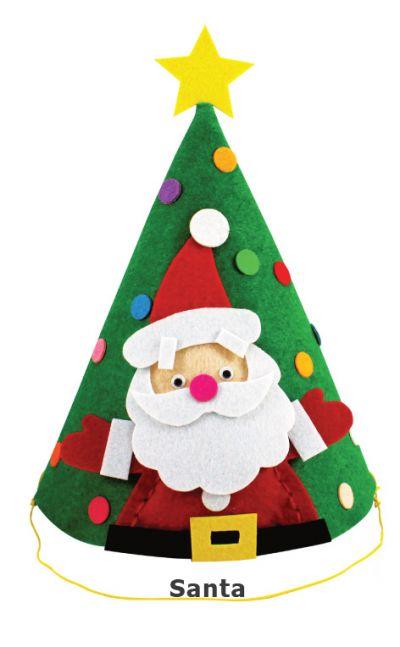 Felt Christmas 3D Hat - Santa Claus