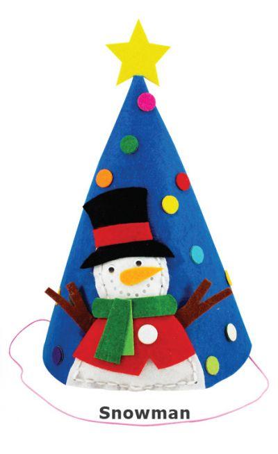 Felt Christmas 3D Hat - Snowman