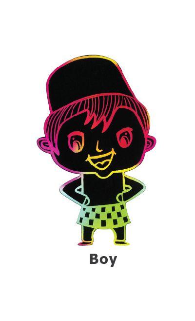 Scratch Art Hari Raya - Raya Boy