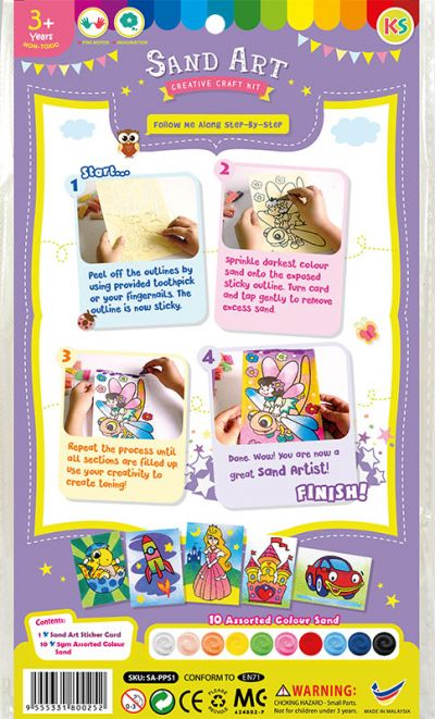 Sand Art Kit - Small - Packaging Back