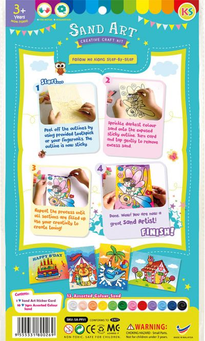 Sand Art Kit - Medium - Packaging Back