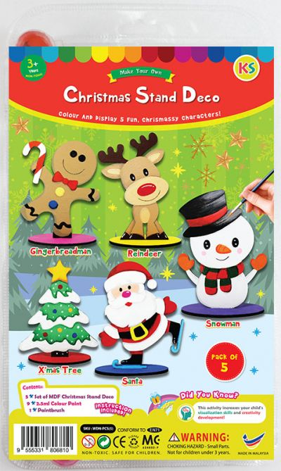 Christmas Stand Deco Kit - Pack of 5