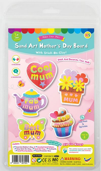 5-in-1 Sand Art Mother's Day Board Kit - Packaging Front