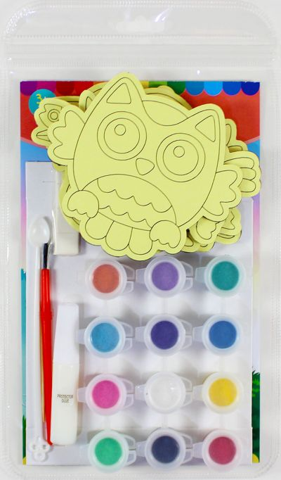 5-in-1 Sand Art Bird Board Kit - Packaging Back