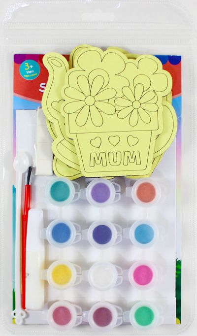 5-in-1 Sand Art Mother's Day Board Kit - Packaging Back