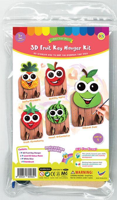 3D Fruit Key Hanger Kit - Packaging Front