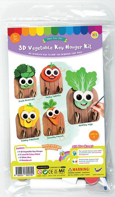3D Vegetable Key Hanger Kit - Packaging Front