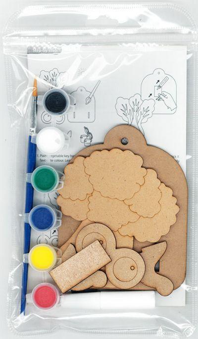 3D Vegetable Key Hanger Kit - Packaging Back