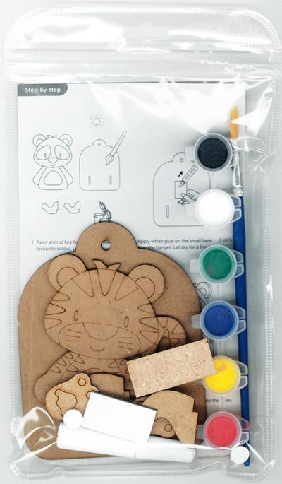 3D Zoo Animal Key Hanger Kit - Packaging Back