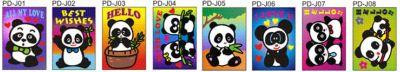 Sand Art Panda - Medium