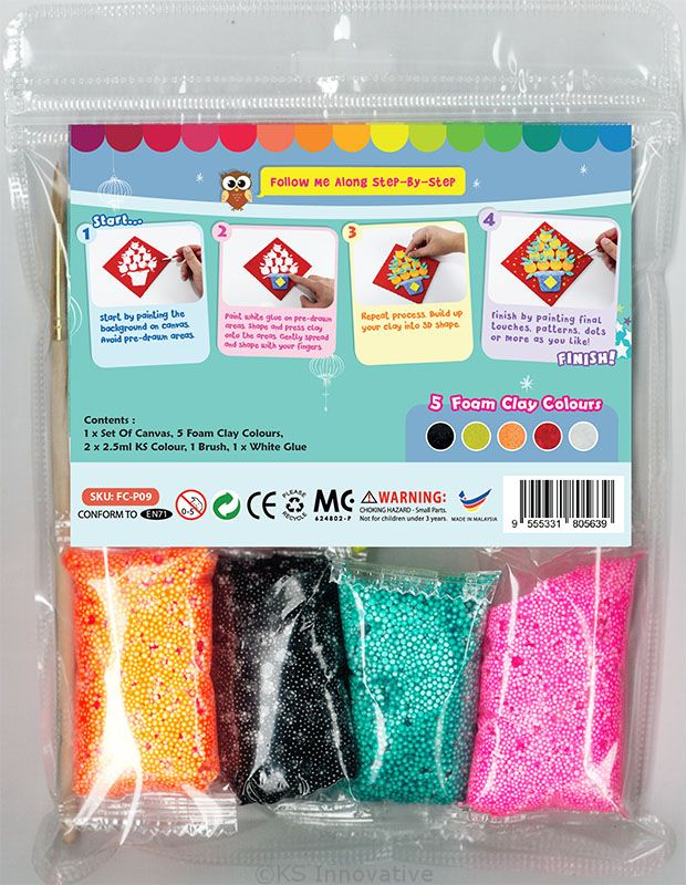 8756ca502f0 ... Chinese New Year Foam Clay Canvas Kit - Packaging Back ...
