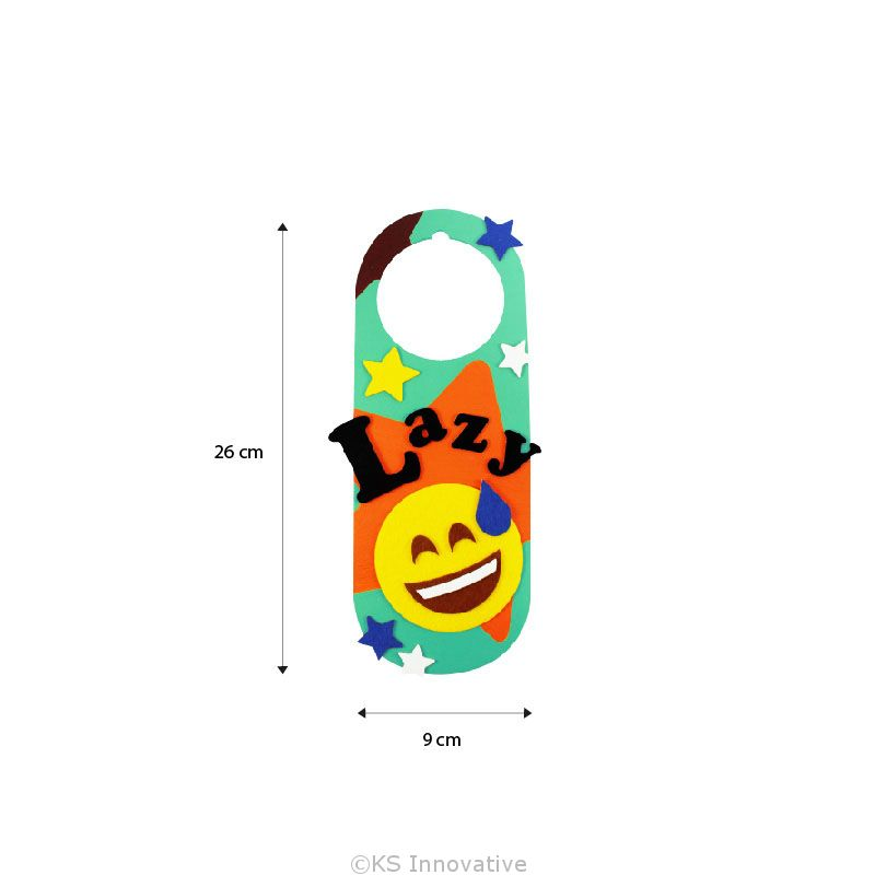 felt emoji door hanger kit