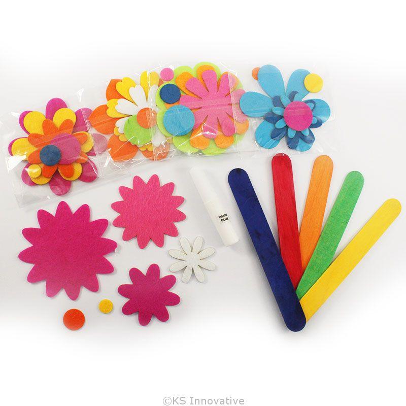 ... Felt Flower Bookmark Pack of 5 - Content ...