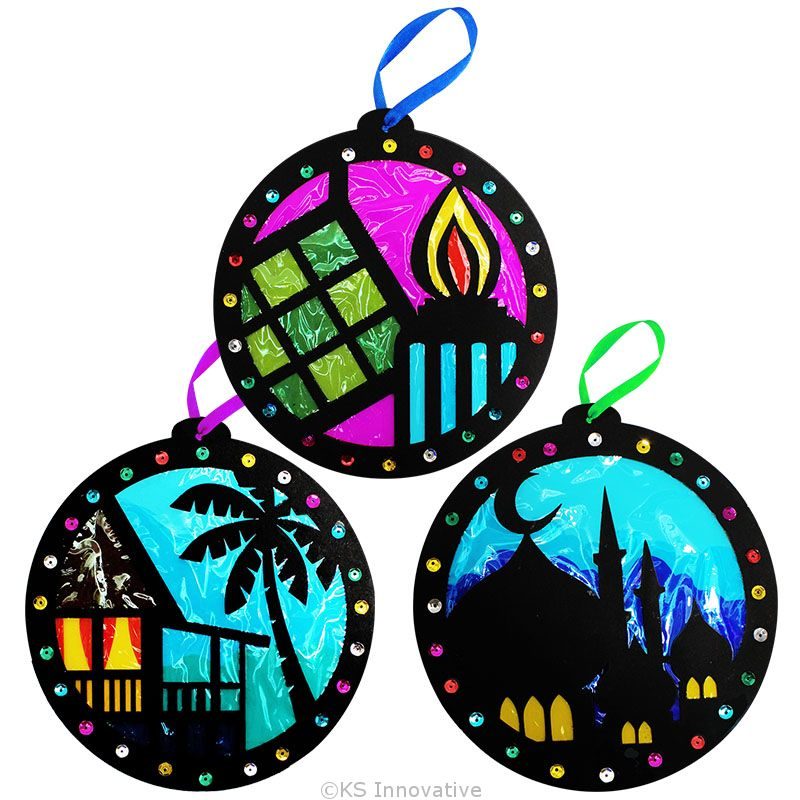 Stained Glass Hari Raya Pack Of 3